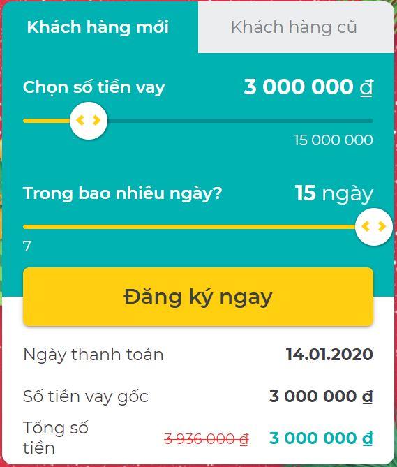 các khoản vay tiền online trên tamo
